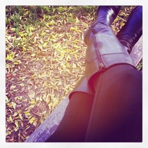 leggins al parco